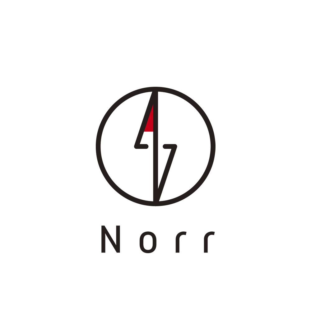 norr logo 正方形 文字あり
